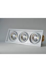 Светильник карданный встраиваемый ЭРА SKD-13-36-40K-W09 3х9Вт 4000K 2430Лм 320х130х100