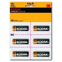 Kodak LR6-12BL perforated (6x2BL) XTRALIFE [KAA-2x6 perf] (144/576/18432)