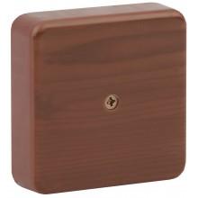 ЭРА Коробка распаячная 75х75х20 (без клеммы) дуб IP40 ЭРА (100/3000)