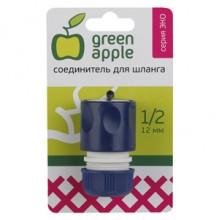 GAES20-04 GREEN APPLE ЕСО Соединитель (Коннектор) для шланга 12 мм (1/2), пластик (50/200/2400)