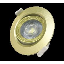 PSP-R 9044 7W GOLD 4000K 38° круг/поворот IP40 Jazzway