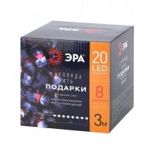 ENIN-3P ЭРА Гирлянда LED Нить Подарки 3 м холодный свет, 220V, IP20