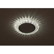 DK LD25 SL/WH Светильник ЭРА декор cо светодиодной подсветкой Gx53, прозрачный (50/800)