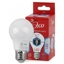 ECO LED A55-8W-840-E27 ЭРА (диод, груша, 8Вт, нейтр, E27) (10/100/2000)