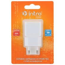 СС200 USB зарядки_25 Intro Зарядка сетевая 2 USB, 2,1A (100/200/2400)