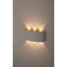 WL12 WH Светильник ЭРА Декоративная подсветка светодиодная ЭРА 6*1Вт IP 54 белый (20/800)
