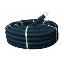 Гофра ПНД ЭРА Труба гофрированная ПНД (черный) d 40мм с зонд. легкая 25м (10)