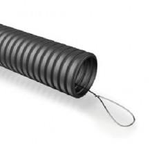 Гофра ПНД ЭРА (черный) ПНД d 25мм с зонд. легкая 25м (48)