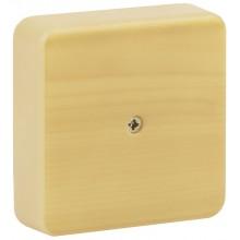 ЭРА Коробка распаячная 75х75х20 (без клеммы) сосна IP40 ЭРА (100/3000)