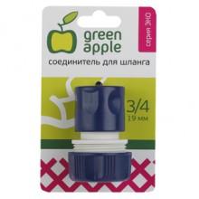 GAES20-06 GREEN APPLE ЕСО Соединитель (Коннектор) для шланга 19 мм (3/4),пластик (50/200/2400)