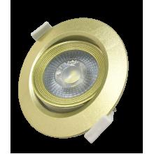 PSP-R 9044 7W GOLD 3000K 38° круг/поворот IP40 Jazzway