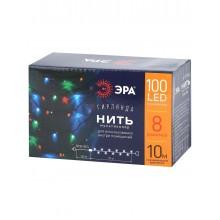 ENIN-10M ЭРА Гирлянда LED Нить 10 м мультиколор 8 режимов, 220V, IP20