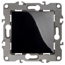 12-1001-06 ЭРА Выключатель, 10АХ-250В, IP20, без м.лапок, Эра12, чёрный (10/100/2500)