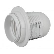 ЭРА Патрон Е27 с кольцом, термостойкий пластик, белый (50/200/7200)